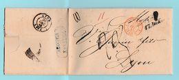 M.En.5 MP WIEN 17 DEC.1845  + Suisse St-Louis 1  24 DEC 45  Pour Lyon 26.Dec - Marcofilia (sobres)