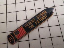 115e Pin's Pins / Rare Et De Belle Qualité !!! THEME MILITARIA / MISSILE PATRIOT DESERT STORM 1991 - Militaria