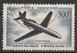 Timbre France Poste Aérienne Aviation Avion Plane Caravelle N° Yvert PA36 De 1957 Oblitéré - Poste Aérienne