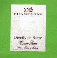 """Etiquette Du Champagne  """" Demilly De Baere - Champagne"""