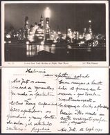 New York NY - Post Card - Lower New York Skyline At Night, East River - 1934 - Circulee - Cygnus - Multi-vues, Vues Panoramiques