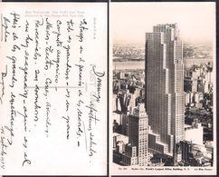 New York NY - Post Card - Radio City Building - 1934 - Circulee - Cygnus - Manhattan