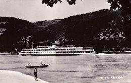 "ADA-KALEH / DANUBE : BATEAU / SHIP : "" AMYP / AMUR "" [U.S.S.R.] - CARTE VRAIE PHOTO / REAL PHOTO POSTCARD ~ 1960 (ae975) - Rumania"