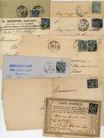 8X SAGE DONT ENCRE BLEU SUR 10C CPP - Postmark Collection (Covers)