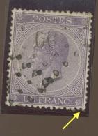 21. 1Fr. Oblitéré.  Cote 175-euros - 1865-1866 Profil Gauche