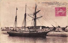 VOILIERS-A COURSEULLES-SUR-MER- TROIS-MÂTS AU PORT - Sailing Vessels