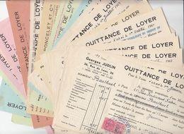 LOT DE 20 X QUITTANCES DE LOYER  VOIR LE SCAN - Documents Historiques