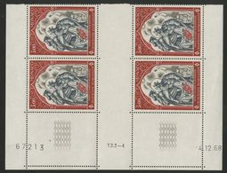 """MONACO N° 788 Cote 8.4 € Bloc De 4 Neuf ** (MNH) Avec Coin Daté Du 4/12/68 """"Croix Rouge Monégasque"""" TB/VG - Monaco"""