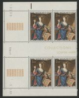 """MONACO N° 798 Cote 6.4 € Bloc De 4 Neuf ** (MNH) Avec Coin Daté Du 2/1/69 """"Louise Hippolyte"""" TB/VG - Monaco"""