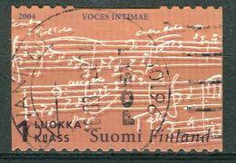 Bm Finland 2004 MiNr 1683 Used | Ainola Museum (Jean Sibelius (composer)'s House), Voices Intimae Score (detail) - Finland