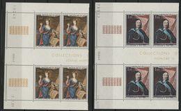 """MONACO N° 797 + 798 Cote 10.4 € 2 Blocs De 4 Neufs ** (MNH) Avec Coin Daté Du 11/4/68 Et 2/1/69 """"Princes"""" TB/VG - Monaco"""