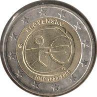 SQ20009.1 - SLOVAQUIE - 2 Euros Commémo. 10 Ans De L'UEM - 2009 - Slovaquie