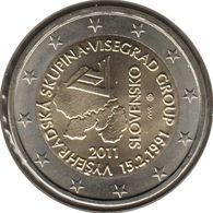 SQ20011.1 - SLOVAQUIE - 2 Euros Commémo. Constitution Du Groupe De Visegrád - 2011 - Slovaquie