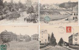 4 CPA:SEDAN (08) AVENUE PHILIPPOTEAUX,TRAMWAY PLACE TURENNE,BATAILLE COMBAT DE LA MONCELLE,REVUE 14 JUILLET 1901 SOLDATS - Sedan
