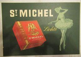 St. Michel (belgische Sigaret) - Kartonnen Poster - 310 X 210 Mm - Reclame-artikelen