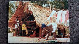 CPSM SURINAM BOSNEGERTAFEREELTJE FEMME AUX SEINS NUS  ED CH SJIEM FAT - Surinam
