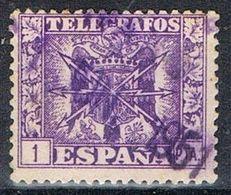 Sello 1 Pts TELEGRAFOS 1948, Variedad Calcado Al Dorso , Num 90 º - Telegramas
