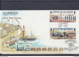 Alderney Michel Cat.No. FDC  108/115 - Alderney