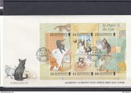 Alderney Michel Cat.No. FDC  94/99 + Sheet 2 - Alderney