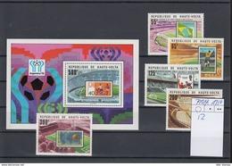 Ober Volta Michel Cat.No. Mnh/** 740/744 + Sheet 52 Soccer - Obervolta (1958-1984)