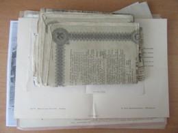 Lot De Vieux Papiers Toutes époques Dont Décrets De Lois Vers 1792, Papiers Avec Fiscaux, Actions, Etc... - A Trier - Historische Dokumente