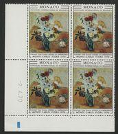 """MONACO N° 817 Cote 14 € Bloc De 4 Neuf ** (MNH) Avec Coin Daté Du 2/4/70 """"Concours De Bouquets"""" TB/VG - Monaco"""