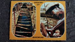 CPSM SURINAM METIER ARTISANAT MAROWIJNE BOSNEGER WERKZAAM AAN EEN SIE KOREAAL   ED CH SJIEM FAT 1970 - Surinam