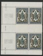 """MONACO N° 818 Cote 8.8 € Bloc De 4 Neuf ** (MNH) Avec Coin Daté Du 26/12/69 """"Croix Rouge Monégasque"""" TB/VG - Monaco"""