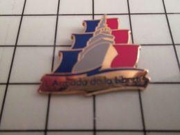 115e Pin's Pins / Rare Et De Belle Qualité !!! THEME BATEAUX / ARMADA DE LA LIBERTE Quelle Liberté ? J'ai Un Doute - Barcos