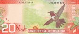 COSTA RICA P. 278a 20000 C 2009 UNC - Costa Rica