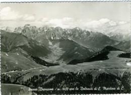 CASTELLO TESINO PASSO BROCCONE  TRENTO  Panorama Con Dolomiti Di San Martino Di Castrozza  Cachet Albergo Passo Broccone - Trento