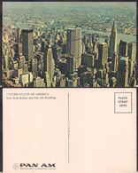 New York NY - Post Card - New York Skyline And Pan Am Building - Circa 1960 - Non Circulee - Cygnus - Multi-vues, Vues Panoramiques