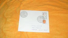 ENVELOPPE ANCIENNE DE 1958../ CACHETS LES 24 HEURES DU MANS + TIMBRES TIR A L'ARC , BLASON ANGOUMOIS - Postmark Collection (Covers)