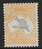 AUSTRALIA 1932 5s KANGAROO SG 135 FINE USED Cat £21 - 1913-48 Kangaroos