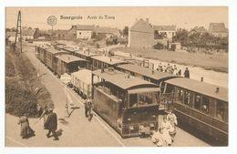 Bourgeois Arrêt Du Tram à Vapeur Carte Postale Ancienne Animée Rixensart - Rixensart