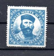 STORIA - GIUSEPPE GARIBALDI  CHIUDILETTERA ERINNOFILO PER IL 50 ANN. DELLA MORTE - 1900-44 Victor Emmanuel III
