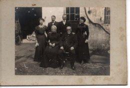 Croix De Vie -Vendée- Les Deux Soeurs Linyer (buraliste) Mariées Aux Deux Frères Vilain (Felix Potin-photo 13cm Sur 19cm - Identified Persons