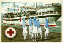 CPM Croce Rossa Sang Croix Rouge J'annule Red Cross Rotes Nave Ospedale In Porto Libico Stamp 2001 - Croix-Rouge