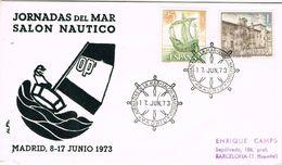 36796. Carta MADRID 1973. Salon Nautico, Jornadas Del Mar - 1931-Aujourd'hui: II. République - ....Juan Carlos I