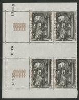 """MONACO N° 876 Cote 8.8 € Bloc De 4 Neuf ** (MNH) Avec Coin Daté Du 30/8/71 """"Le Christ Devant Pilate"""" TB/VG - Monaco"""