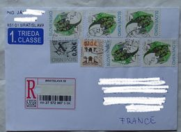 Cover Brief  Lettre   2011 Pour La France  Timbres - Slovakia