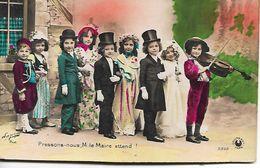 L100G246 - Série De 5 Cartes - Enfants Mis En Situation - Du Mariage à La Naissance - Sazerac Phot - Croissant N°3392 - Scènes & Paysages