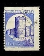 Italie - Italy - Italien 1981 Y&T N°1501hb - Michel N°1776Duo (o) - 200l Forteresse De Lucera - 6. 1946-.. Repubblica