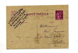 Carte Postale 40 C Paix Flamme Muette Vienne Castres - Entiers Postaux