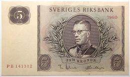 Suède - 5 Kronor - 1960 - PICK 42e - NEUF - Suède