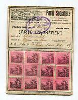 Carte D'adhérent Parti Socialiste 1907 Magnac-sur-Touvre Charente Prolétaires De Tous Les Pays SFIO - Documents