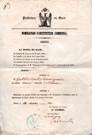 30 ST SAINT SEBASTIEN D'AIGREFEUILLE ANDUZE ALES ENSEIGNEMENT GARD PREFECTURE DOCUMENT NAPOLEON III CEVENNES - Historical Documents