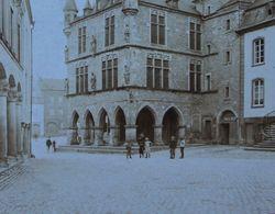 Photo CDV Grand Format ECHTERNACH Grand Place Rathaus Hôtel De Ville Luxembourg Luxemburg - Foto's