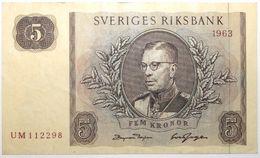 Suède - 5 Kronor - 1963 - PICK 50b - SUP - Suède