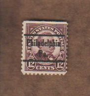 "USA. (Y&T) 1922-25 - N°239. * Cleveland*   * 12c * Obl ""Philadelphia"" - United States"
